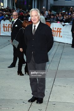 """Director/actor Alan Rickman attends the """"A Little Chaos"""" premiere at the Toronto International Film Festval (with a glimpse of Rima). September 13, 2014, Toronto, Canada. Photo Leonard Adam/Getty Images"""