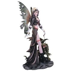 Dragon And Fairy Figurines | ... fairy with green dragon collectible figurine amazing fairies figurines
