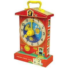 Vintage Inspired Fisher Price Teaching Clock  www.treehousekidandcraft.com