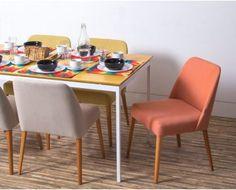 Cadeira Rosini - Laranja - Base Clara # Oppa