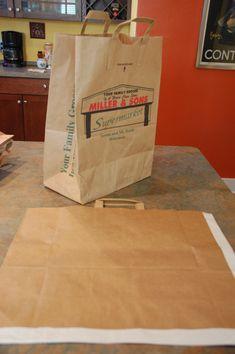 Making Brown Paper Bag Portfolios