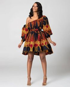Lovely Ankara Short Gown Styles Creative Styles you will love to Rock - DeZango African Fashion Ankara, Latest African Fashion Dresses, African Print Fashion, Africa Fashion, African Wear, African Attire, African Style, Ankara Short Gown Styles, Trendy Ankara Styles