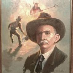 William J. McDonald painting at the Texas Ranger Museum