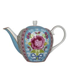 Blue Rose Print Tea Pot, PiP Studio