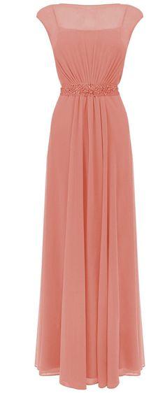 Wedding House Illusion Ausschnitt Elegante Kristall Lange Chiffon Kleid PP74: Amazon.de: Bekleidung