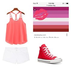 """""""Lesbian pride"""" by kennyleeann ❤ liked on Polyvore featuring J Brand and Converse"""