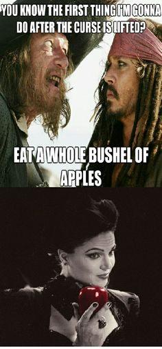 Apple? Hahahaha. Too good to pass up dears.