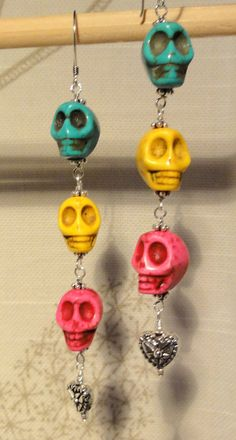 Hey, I found this really awesome Etsy listing at https://www.etsy.com/listing/111468928/dia-de-los-muertos-earrings-tiers-of