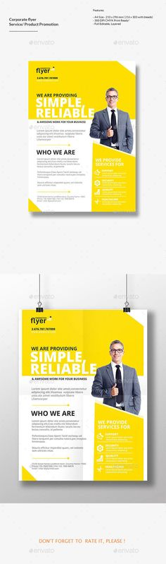 Corporate Flyer - Flyers Print Templates | Download http://graphicriver.net/item/corporate-flyer/15315307?ref=sinzo