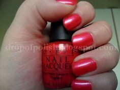 OPI Cha-Ching Cherry - shimmery coral pink