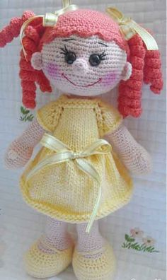 Amigurumi doll pattern, FREE by Iva Pitts Crochet Dolls Free Patterns, Crochet Doll Pattern, Amigurumi Patterns, Amigurumi Doll, Cute Crochet, Crochet Crafts, Crochet Baby, Crochet Projects, Crochet Doll Clothes
