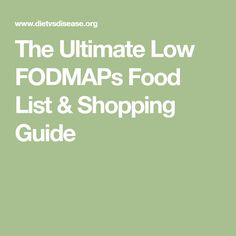This low FODMAP foods list is based on the latest data from Monash University. Print or save to use as a quick-reference guide when shopping or cooking. Low Fodmap Food List, Fodmap Meal Plan, Low Carb, Food Map Diet, Get Healthy, Healthy Eating, Fodmap Recipes, Fodmap Foods, Fructose Free