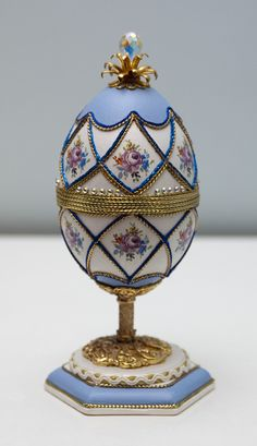 Decorated Goose Eggs | Ornately decorated goose egg.