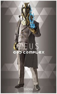 God Complex: Zeus Scale Collectible Figure from Fox Box Studio Character Concept, Character Art, Concept Art, Rpg Star Wars, Complex Art, Cool Robots, Cyberpunk Art, Ex Machina, Sci Fi Characters