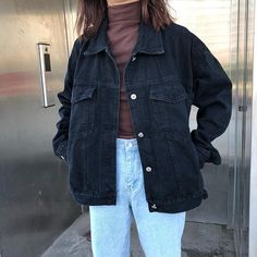 FATIKA Women Casual Black Solid Color Denim Jacket – Shopiraz-shop Source by titansmarket Cute Jackets, Jackets For Women, Denim Jackets, Puffer Jackets, Casual Jackets, Shop Jackets, Women's Jackets, Black Jean Jackets, Bomber Jackets