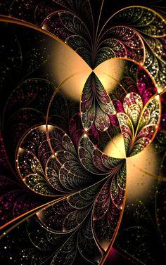 Such joy in beauty Butterfly Wallpaper, Colorful Wallpaper, Wallpaper Backgrounds, Fractal Images, Fractal Art, Fractal Design, Fantasy Kunst, Cellphone Wallpaper, Fantastic Art
