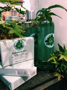 The Body Shop Bourke St Fuji Green Tea Collection In-store. #fujigreentea #newarrival #thebodyshopaust