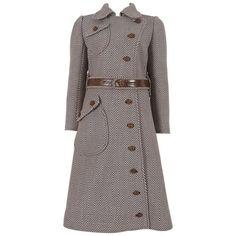 fab 1969 Courreges Haute Couture tailored tweed coat