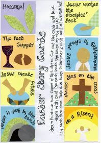 Flame: Creative Children's Ministry: Easter Story Picture Card Games- Print out and Play