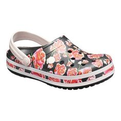 Incredibly light and fun to wear, these Crocs floral clogs will be your new go-to. Clogs Shoes, Shoe Boots, Crocs Shoes Women, Crocs Crocband, Crocs Classic, Comfortable Heels, Clearance Shoes, Strap Heels, Wedding Shoes