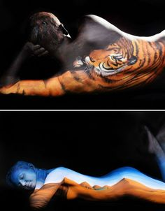 Amazing Inspiration! Body Paint Illusions Transform Human Models into Animals