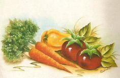 riscos de frutas e legumes pintura em tecido - Pesquisa Google