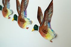 that artist woman: Migrating Ducks Art Project and Giveaway Results Science Projects, Clay Projects, Dyi Crafts, Crafts For Kids, Duck Art, Art School, School Stuff, Ceramic Art, Handicraft