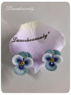 floral earrings - irish crochet