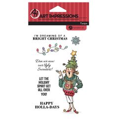 Capture all of those funny moments for your Ugly Sweater Christmas party with this clear stamp set by Hampton Art for Art Impressions! Included in this set are Christmas Nail Designs, Christmas Nails, Ugly Sweater, Ugly Christmas Sweater, Red And White Nails, Hampton Art, Art Impressions, Birthday Love, Penny Black