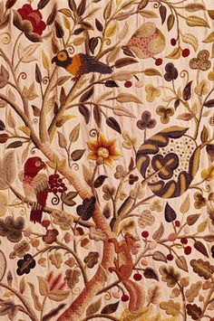 17th century crewel embroidery - Google Search
