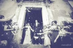 Confetti tossing in Taormina - Santa Caterina church - Sicily