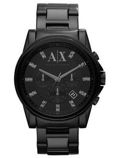 Armani Exchange Chronograph Crystals Black Dial AX2093 Men s Watch  Chronograph 6ceb420457