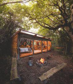 "3,947 Likes, 45 Comments - Survival Kit, Inc. (@surviva1kit) on Instagram: ""Half cabin, half tent? LIKE if you wanna be here! Photo: @janikalheit"""