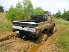 Chevy off roading mudding