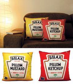 Ketchup and Mustard Pillows!!!