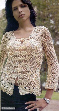 DE MIS MANOS TEJIDOS Y MAS...: Blusa a crochet