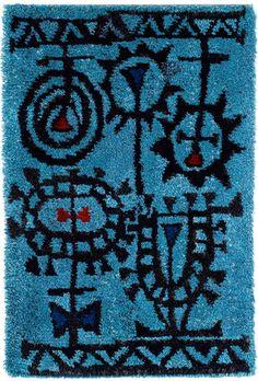Wall rug by Timo Sarpaneva, 1949 Finland Diy Carpet, Magic Carpet, Modern Carpet, Rugs On Carpet, 60s Patterns, Textile Patterns, Rya Rug, Mohawk Carpet, Latch Hook Rugs