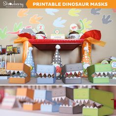 Party Printable Kits - DIY DINOmite Dinosaur Masks - MYGRAFICO - DIGITAL ARTS AND CRAFTS STORE
