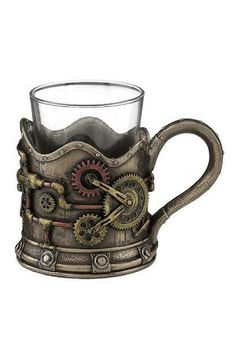 Steampunk Octopus Shot Glass w/ Handle Gothic Unique Barware Home Decor Steampunk Octopus, Steampunk Gears, Steampunk Design, Steampunk Gadgets, Steampunk Fashion, Gothic, Steampunk Accessories, Shot Glasses, Trinket Boxes