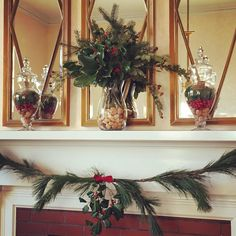 "Willow Acres on Instagram: ""Just some mantle magic for the holidays!"""