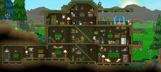 Starbound Cabin House design by RedLace #Starbound #pcgames