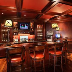 if you can dedicate an entire room to bar space, this would be a classy choice!