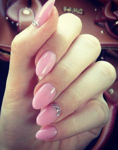 pink almond nails design CLICK.TO.SEE.MORE.eldressico.com