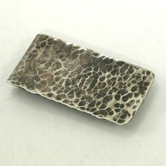 Oxidized and Hammered Nickel Silver Money Clip $50.00