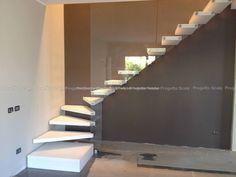 Scale a Sbalzo con gradini in resina, Modello 07