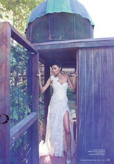 @Ines Di Santo gown from Lovella Bridal featured in @Ceremony Magazine / Photo by @Duke Khodaverdian