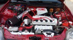 My Honda Civic engine bay