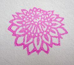 Hand Carved Flowery Stamp -Lotus-