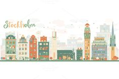 Abstract Stockholm Skyline by @Graphicsauthor