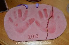 I'm No Domestic Goddess: What To Do And What Not To Do When It Comes To Salt Dough Handprints